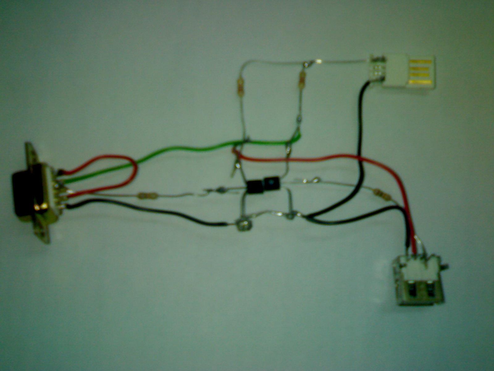 esquema cable usb: